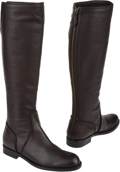 Donna Karan New York Boots In Black Brown Lyst