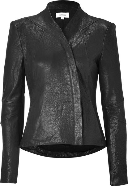 Helmut Lang Black Leather Jacket in Black