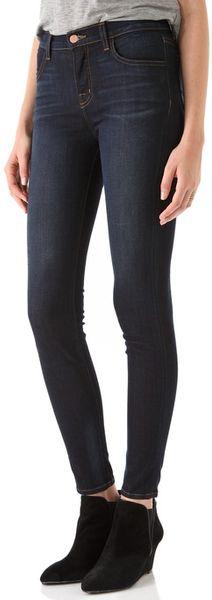 J Brand Maria Skinny Jeans in Blue - Lyst