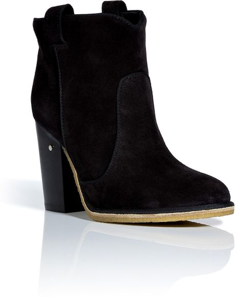 Laurence Dacade Black Suede Ankle Boots in Black