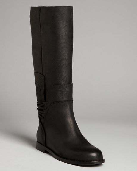 Vera Wang Lavender Flat Tall Boots Kelsey In Black Lyst