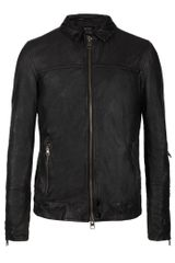 AllSaints Tricky Leather Bomber Jacket