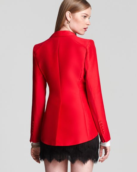 Bcbgmaxazria Noah Tailcoat Jacket  in Red (rio red) - Lyst