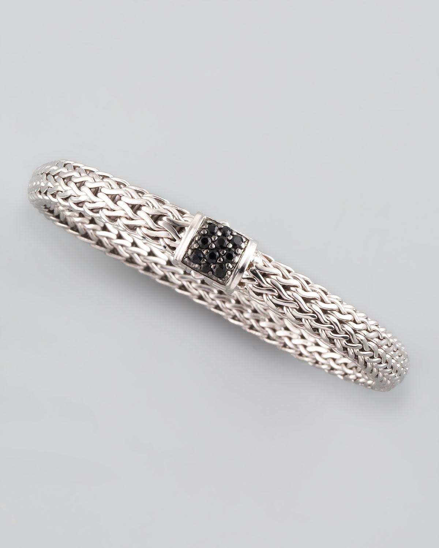John Hardy Black Sapphire Bedeg Chain Bracelet In Metallic