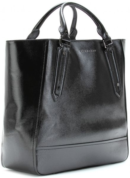 Burberry Large Leather Tote In Black Lyst