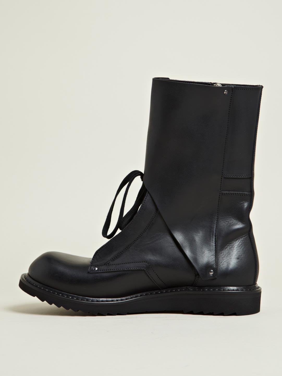 rick owens mens leather boots in black for lyst