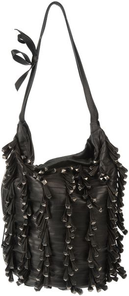Valentino Large Leather Bag in Black