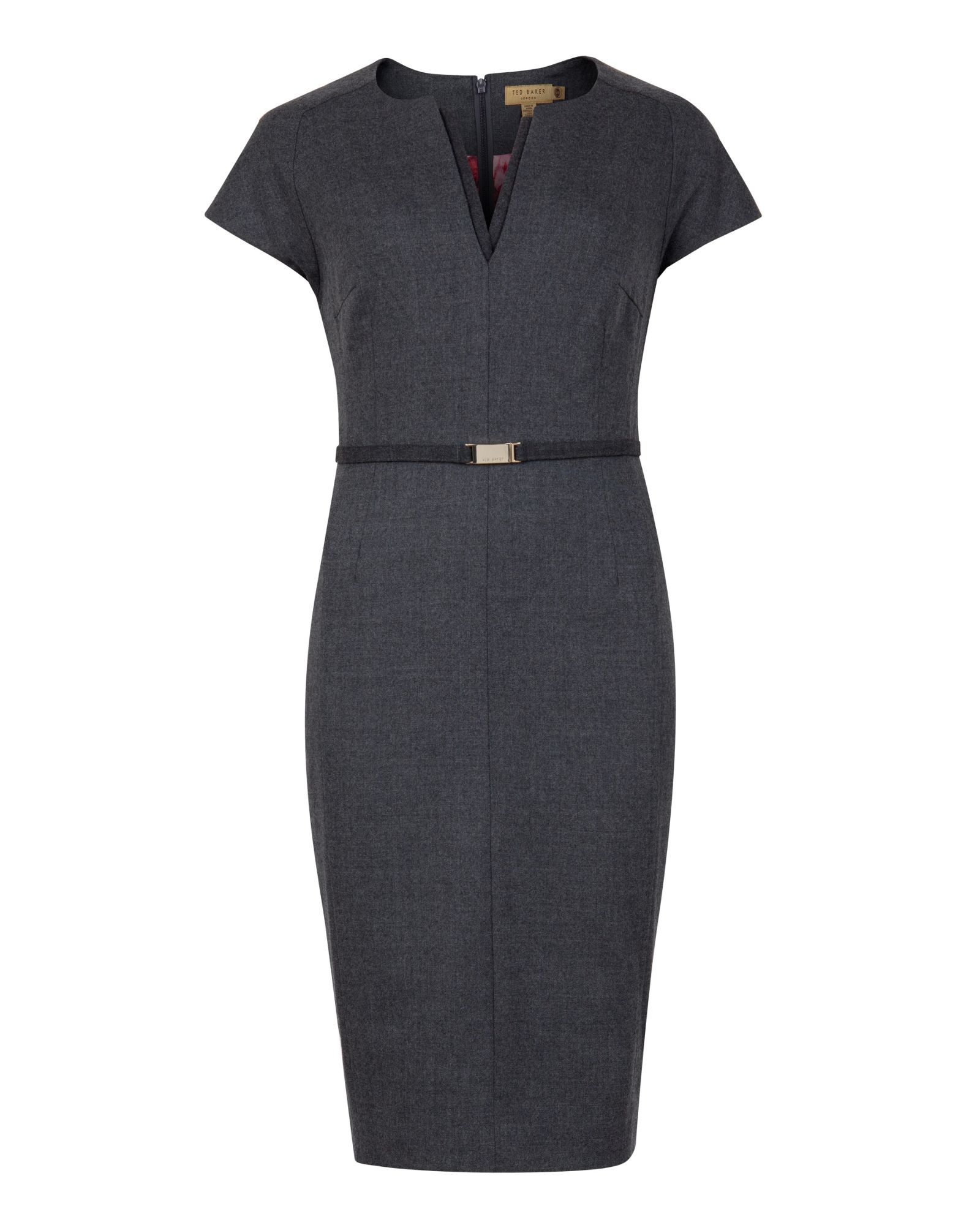 Ted baker Neyoad Flannel Suit Dress in Gray | Lyst