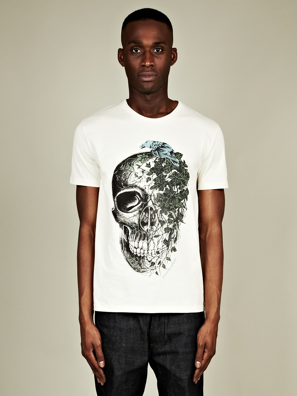Alexander mcqueen Alexander Mcqueen Mens Ivy Skull T Shirt ...
