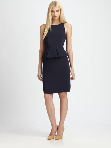 Boss Black Peplum Dress in Blue
