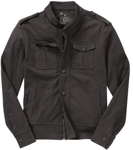 Gap Military Jacket in Gray for Men (dark graphite grey)