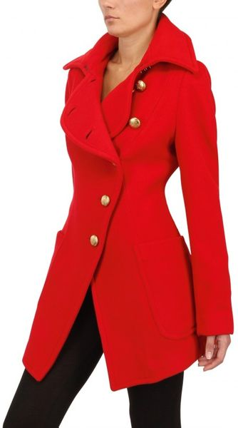Vivienne Westwood Anglomania Wool Flannel Coat in Red