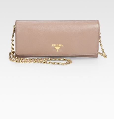 06fc80840416 Prada Saffiano Metal Wallet On Chain   Stanford Center for ...