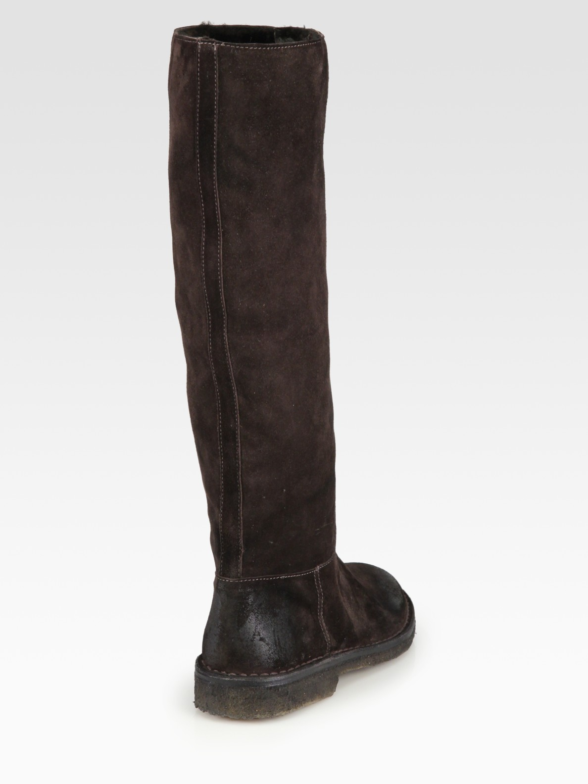 2dd9c9439 Vince Connor Suede Tall Boots in Brown - Lyst