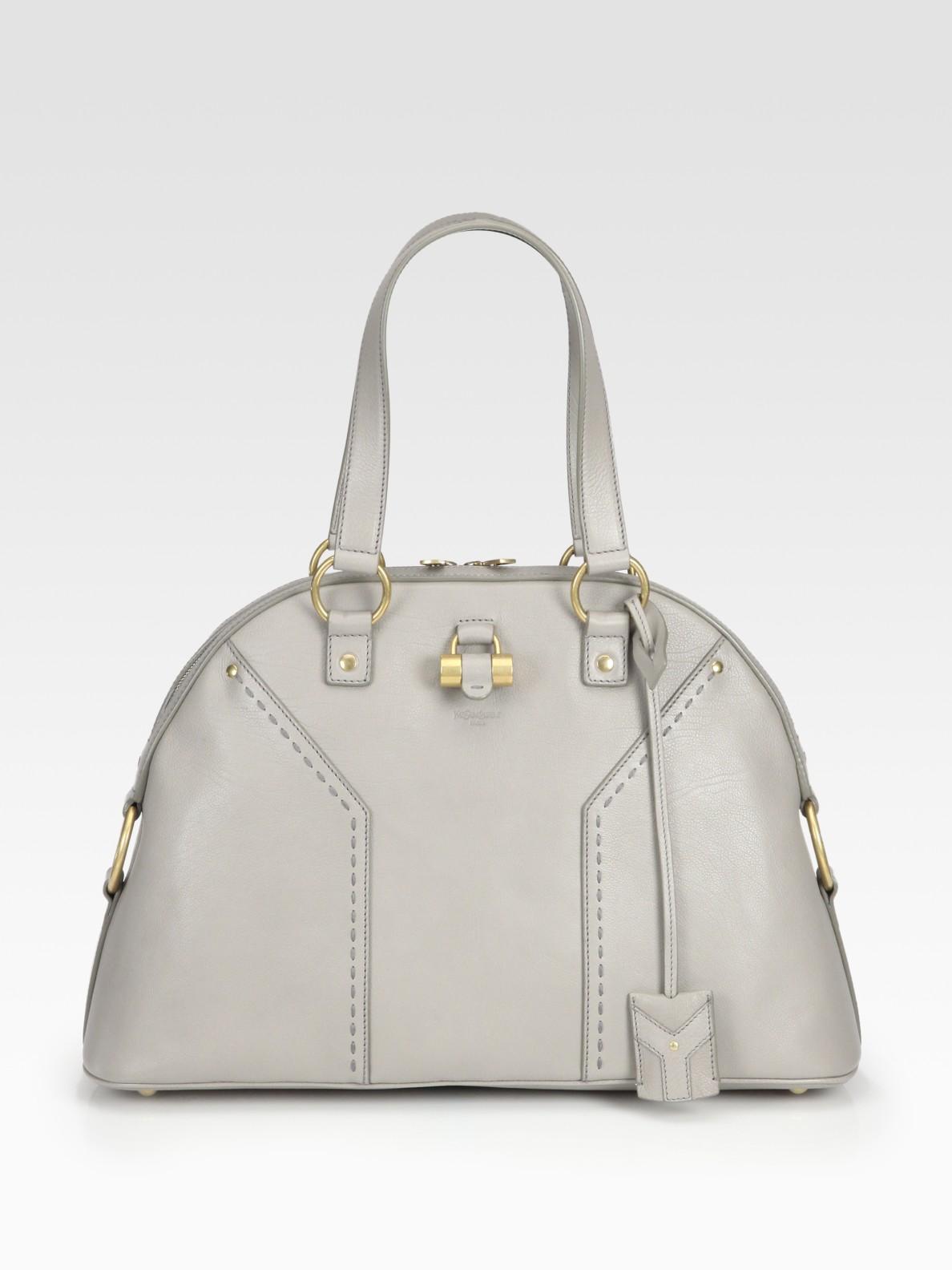 Saint laurent Ysl Large Muse Handbag in Beige (mouse) | Lyst