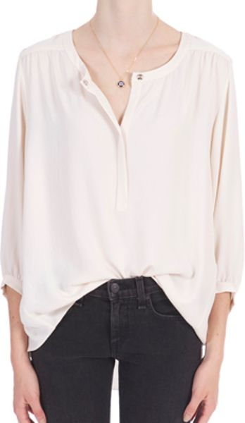 Rag & Bone Maharastra Shirt in White (ivory) - Lyst