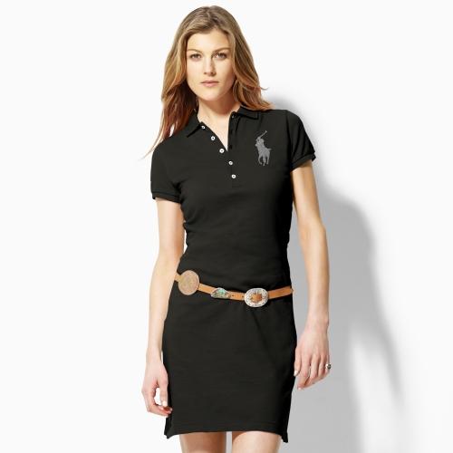 Ralph Lauren Blue Label Big Pony Polo Dress In Brown Lyst. Ralph Lauren Women