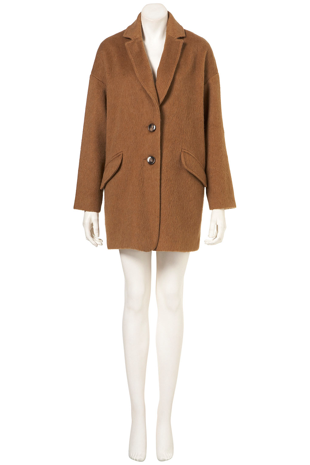Buy Boohoo Women's Brown Shawl Collar Boyfriend Coat. Similar products also available. SALE now on!