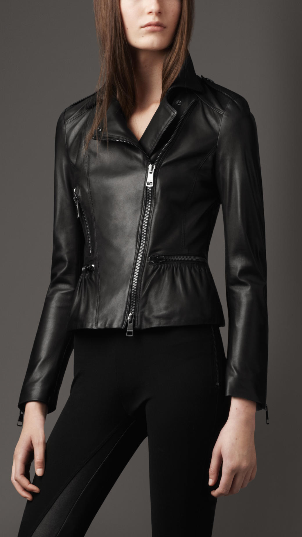 Leather burberry jacket