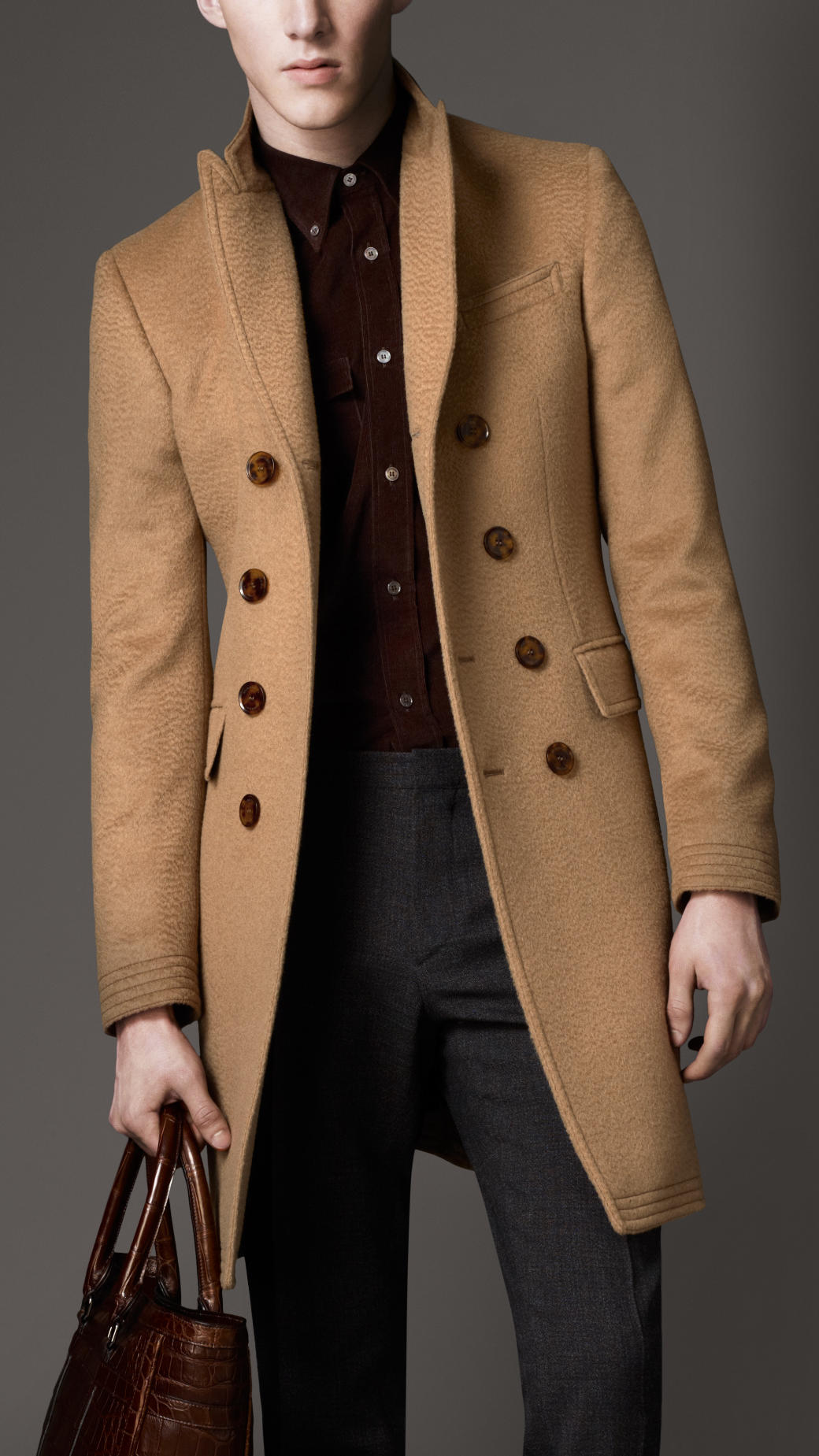 Burberry Camel Hair Top Coat in Natural for Men | Lyst