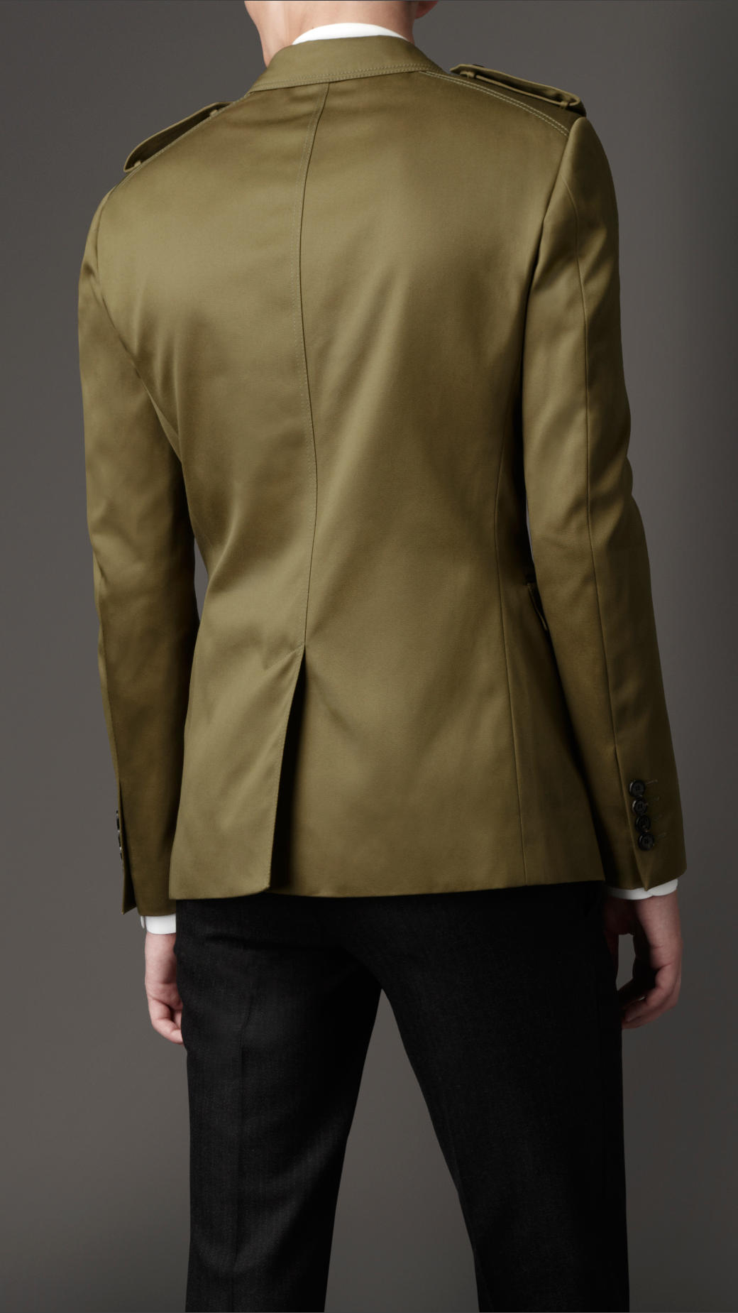 Lyst Burberry Slim Fit Military Jacket In Natural For Men