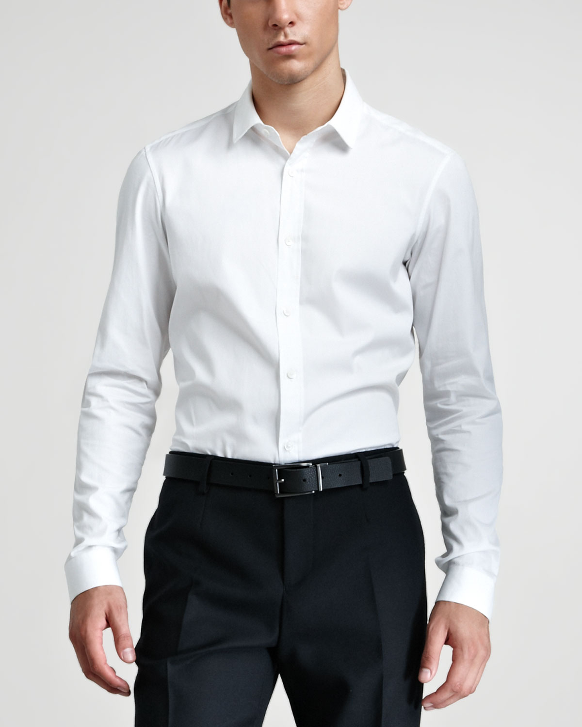 Burberry prorsum Dress Shirt Optic White in White for Men | Lyst
