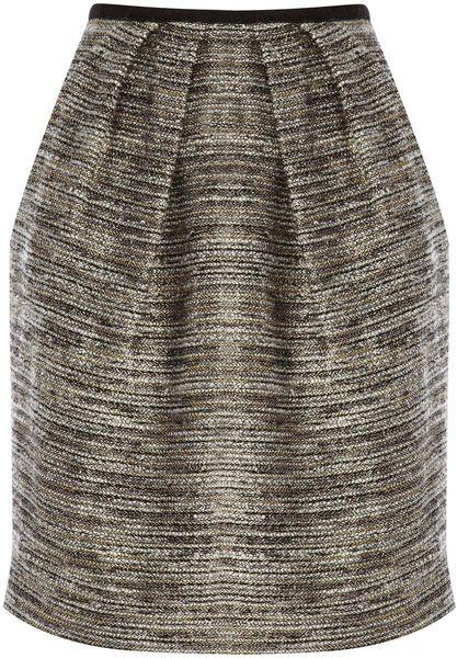 Coast Teasel Tweed Skirt in Gray (bronze) - Lyst