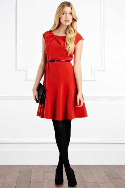 Coast Maurizia Lace Skirt in Red (orange)