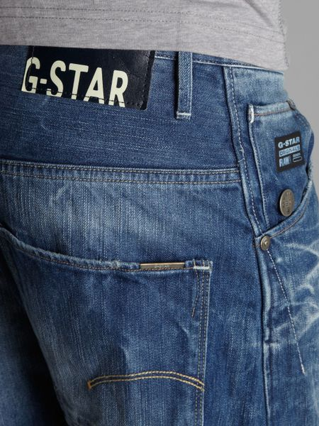 g star raw arc 3d loose tapered jeans in blue for men. Black Bedroom Furniture Sets. Home Design Ideas