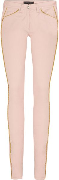 Isabel Marant Marso Midrise Skinny Jeans in Pink (rose)