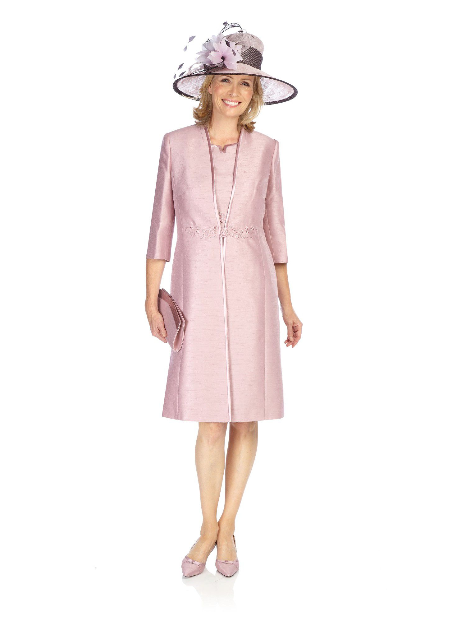 jacques vert iced pink dress coat in pink lyst