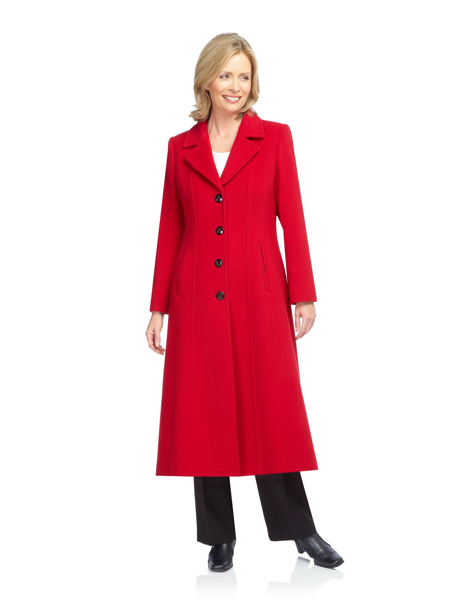 Jacques Vert Long Red Coat In Red Lyst
