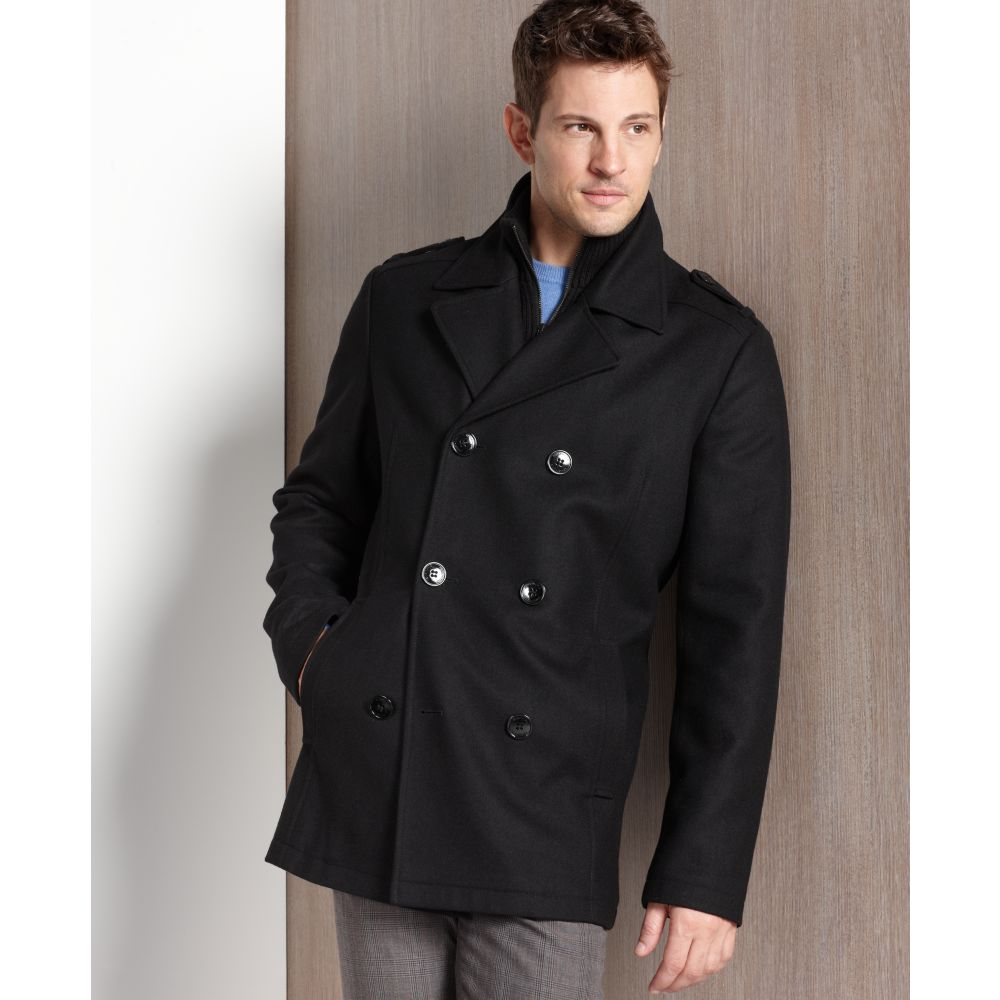 9e777f741ba Lyst Kenneth Cole Reaction Petite Double Ted Wool Blend Pea. Kenneth Cole  New York Barn Coat Nordstrom Rack. Plus Size Pea Coats