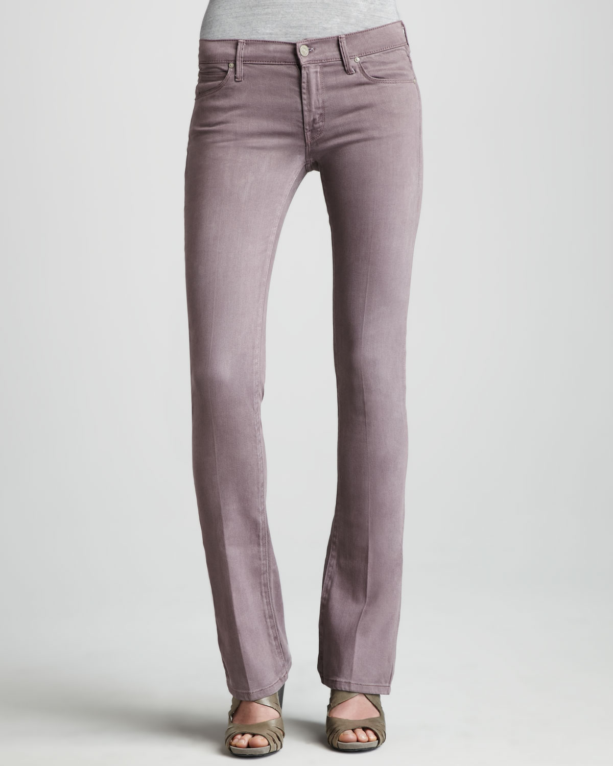 Mother The Runaway French Lilac Skinny Bootcut Jeans in Purple (32) | Lyst
