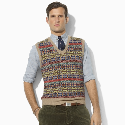 Lyst - Polo ralph lauren Fair Isle Wool Vneck Vest for Men
