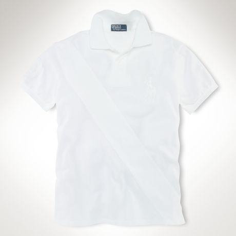 Polo Ralph Lauren Custom Fit Tonal Sash Big Pony in White for Men (classic oxford white)