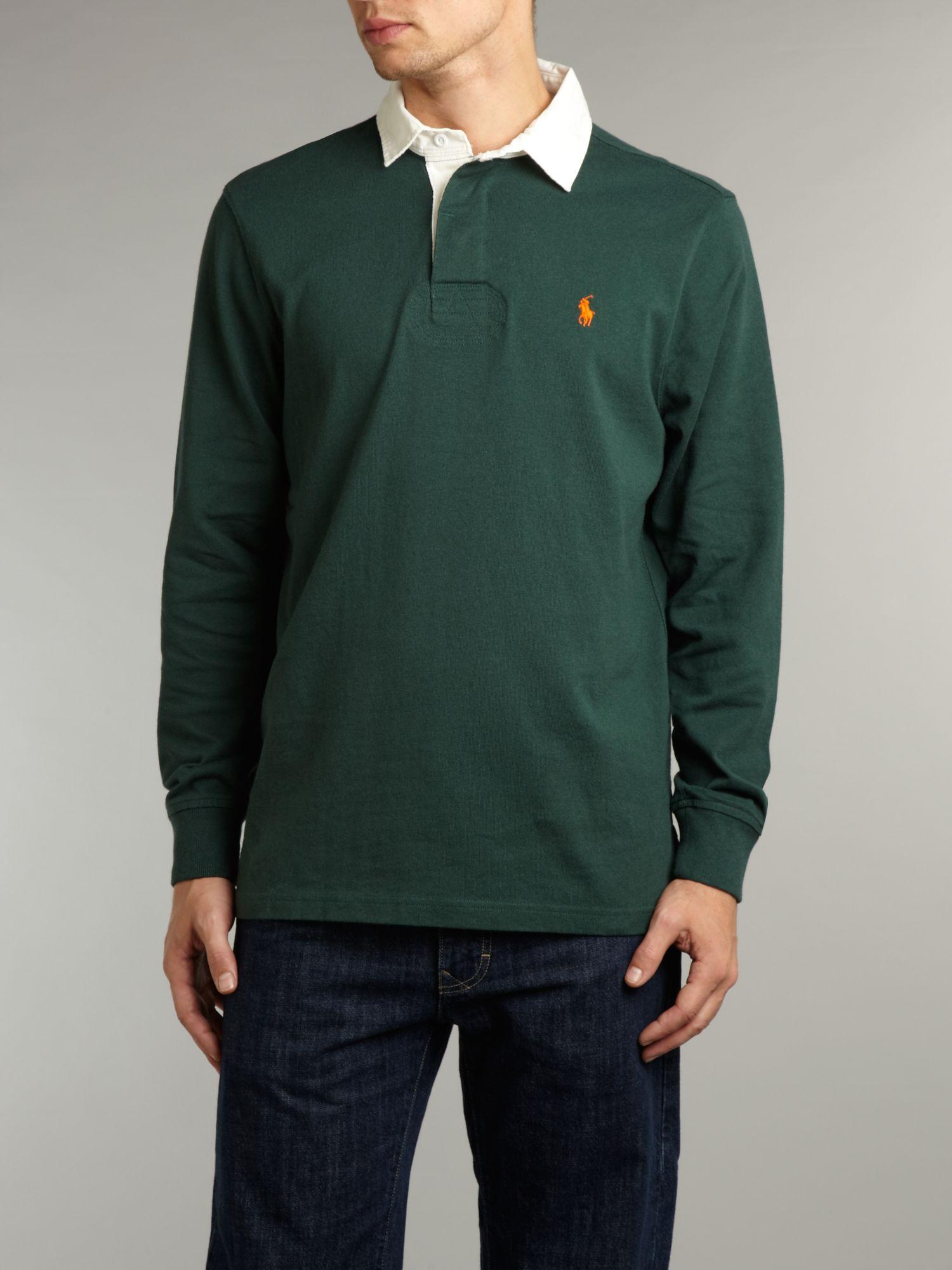 Ralph Lauren Long Sleeved Green Mesh Polo Men