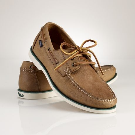 Polo Ralph Lauren Bienne Boat Shoe in Brown for Men (tan