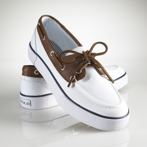 White Polo Rylander Boat Shoes