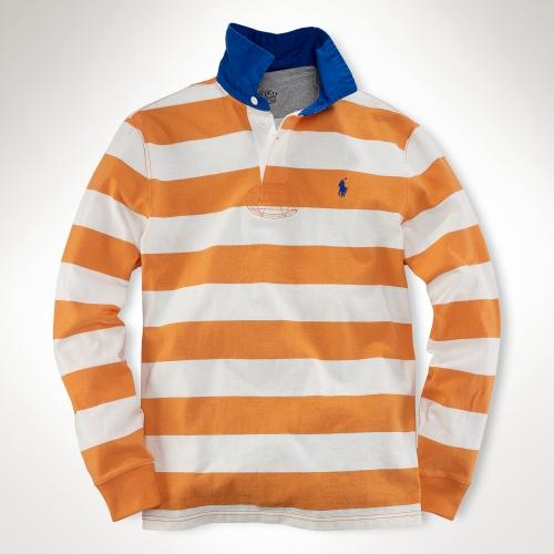 Polo Ralph Lauren Orange Customfit Stripe Rugby For Men
