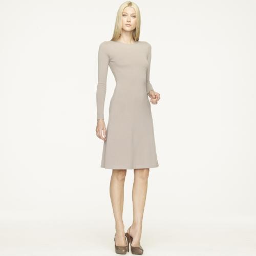 Ralph Lauren Black Label Crewneck Cashmere Dress In