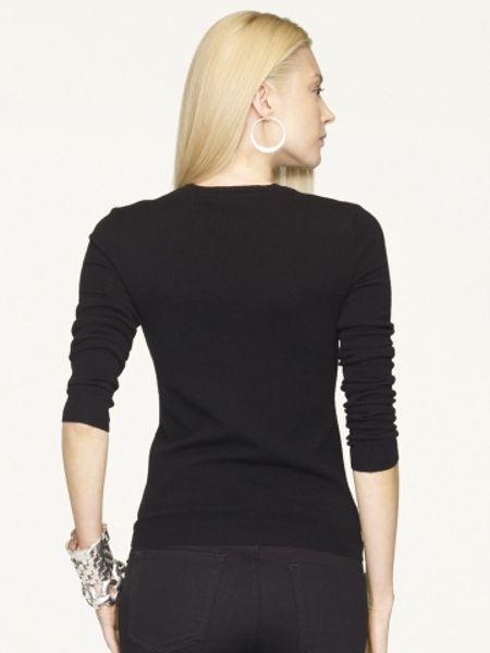 Ralph Lauren Pink Pony Cashmere Big Pony Sweater In Black