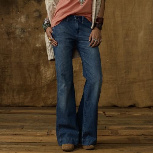 Ralph lauren Wide Leg Jean in Blue | Lyst