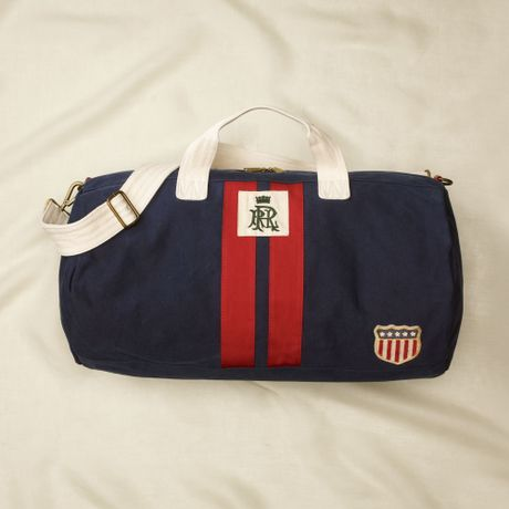 Rugby Navy Stripe Duffle Bag in Blue (navyred)