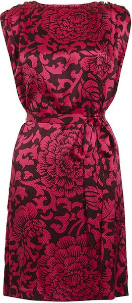 Temperley London Dianthus Shift Dress in Pink (floral)