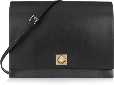 Valentino Leather Shoulder Bag in Black