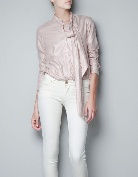 Zara Pintuck Blouse 32
