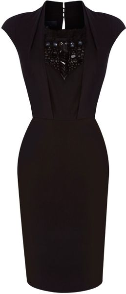 Bastyan Christa Chunky Embellished Dress in Black