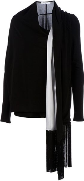 Givenchy Fringed Cardigan in Black