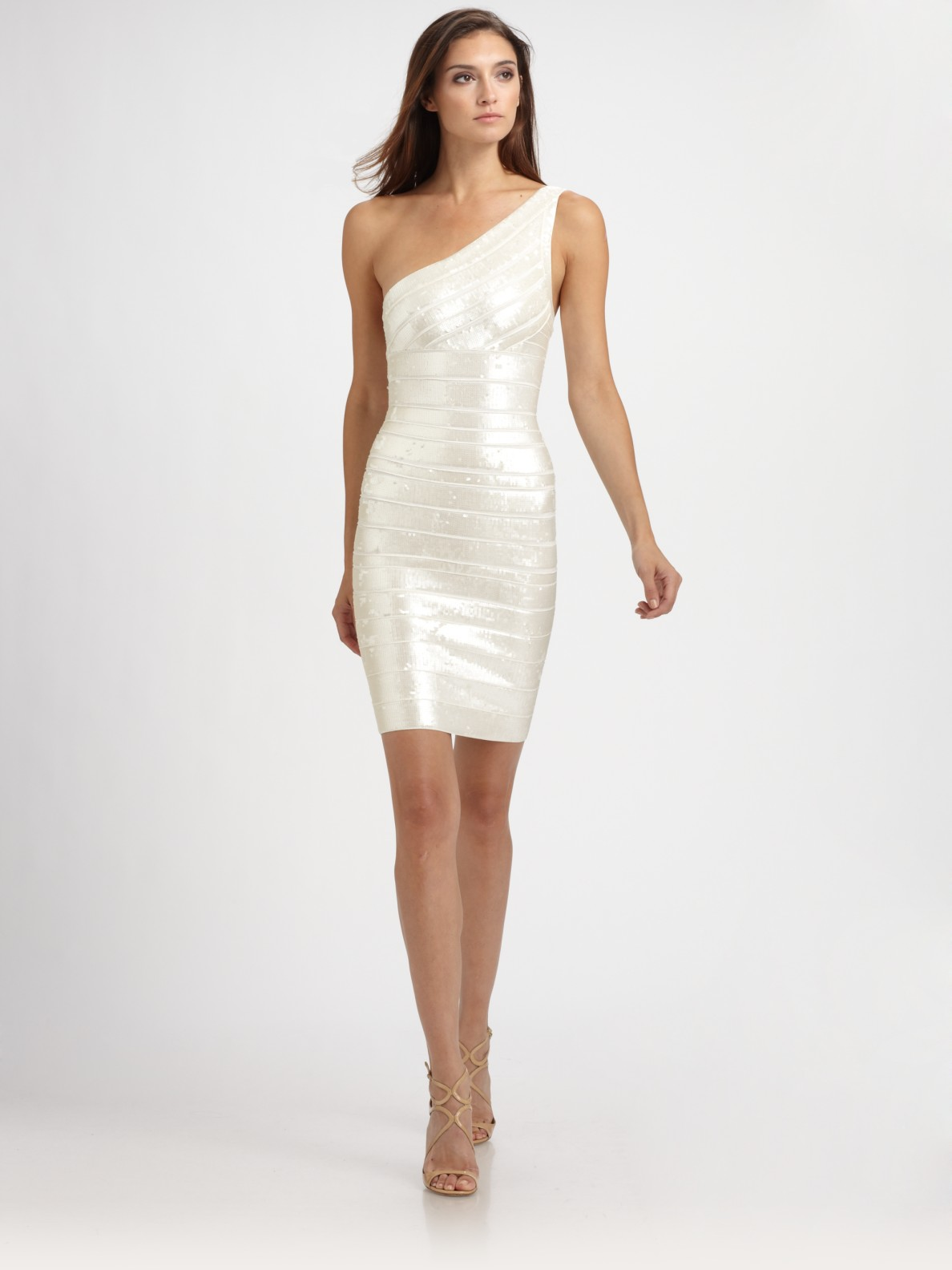 Gallery Previously Sold At Saks Fifth Avenue Women S White Tail Dresses Herve Leger